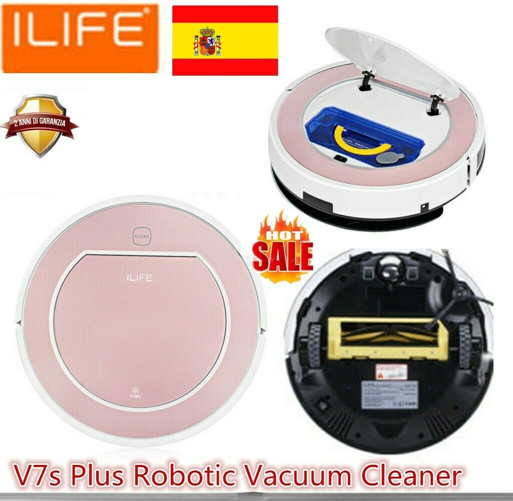 ILIFE V7s Plus 2-in1 Mojado seco ASPIRADORA 4 modos Smart Robotic Vacuum Cleaner